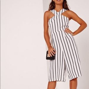 Missguided Striped Jumpsuit